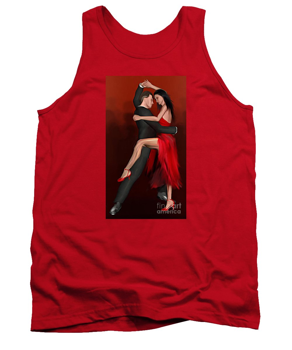 Pasodoble Painting Tank Top featuring the digital art Pasodoble by John Edwards
