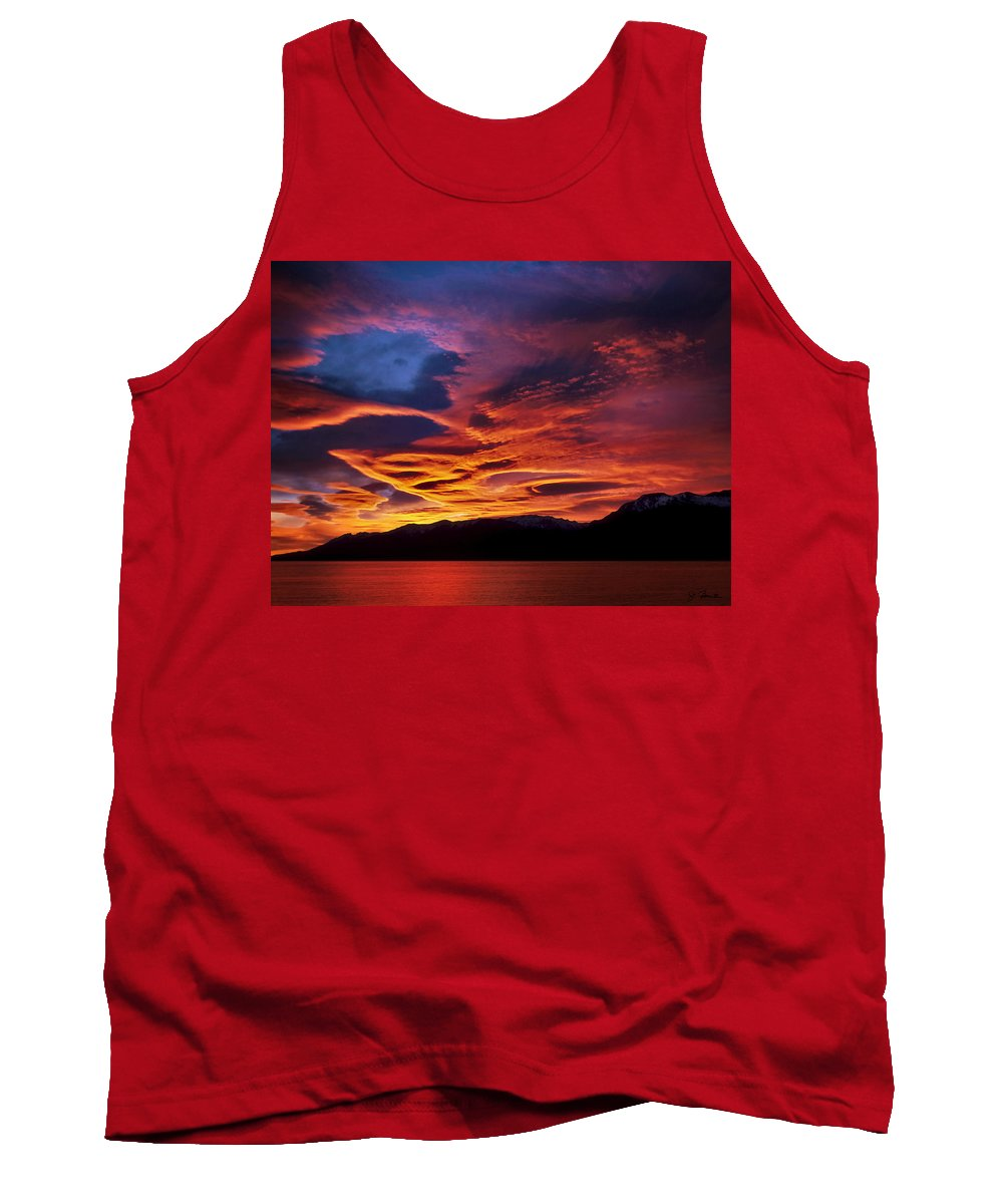 Patagonia Tank Top featuring the photograph Patagonian Sunrise by Joe Bonita