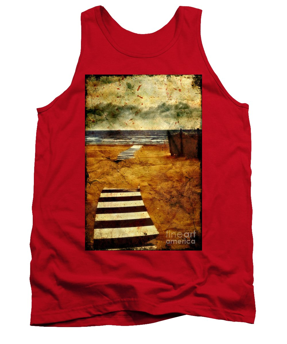 Path Tank Top featuring the photograph Pathway To The Sea II by Silvia Ganora