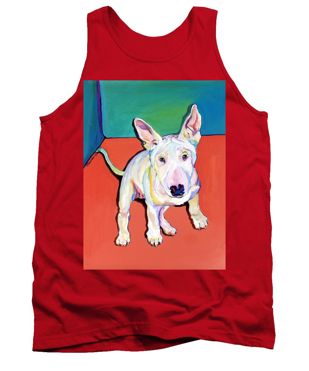 Pet Portrait Commissions Tank Top featuring the painting Pearl by Pat Saunders-White