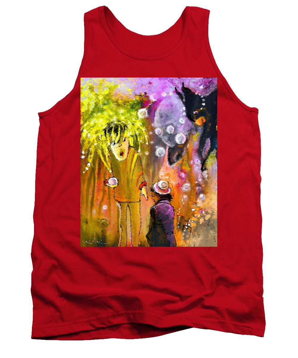 Fantasy Tank Top featuring the painting Pearls Pearls Pearls by Miki De Goodaboom