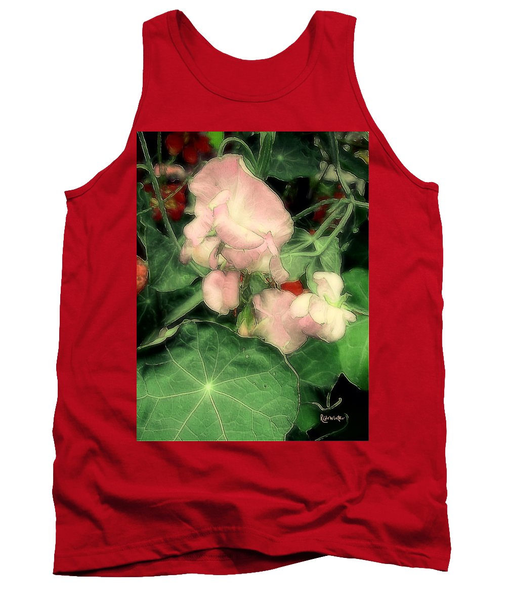 Flowers Tank Top featuring the painting Peas Porridge by RC DeWinter