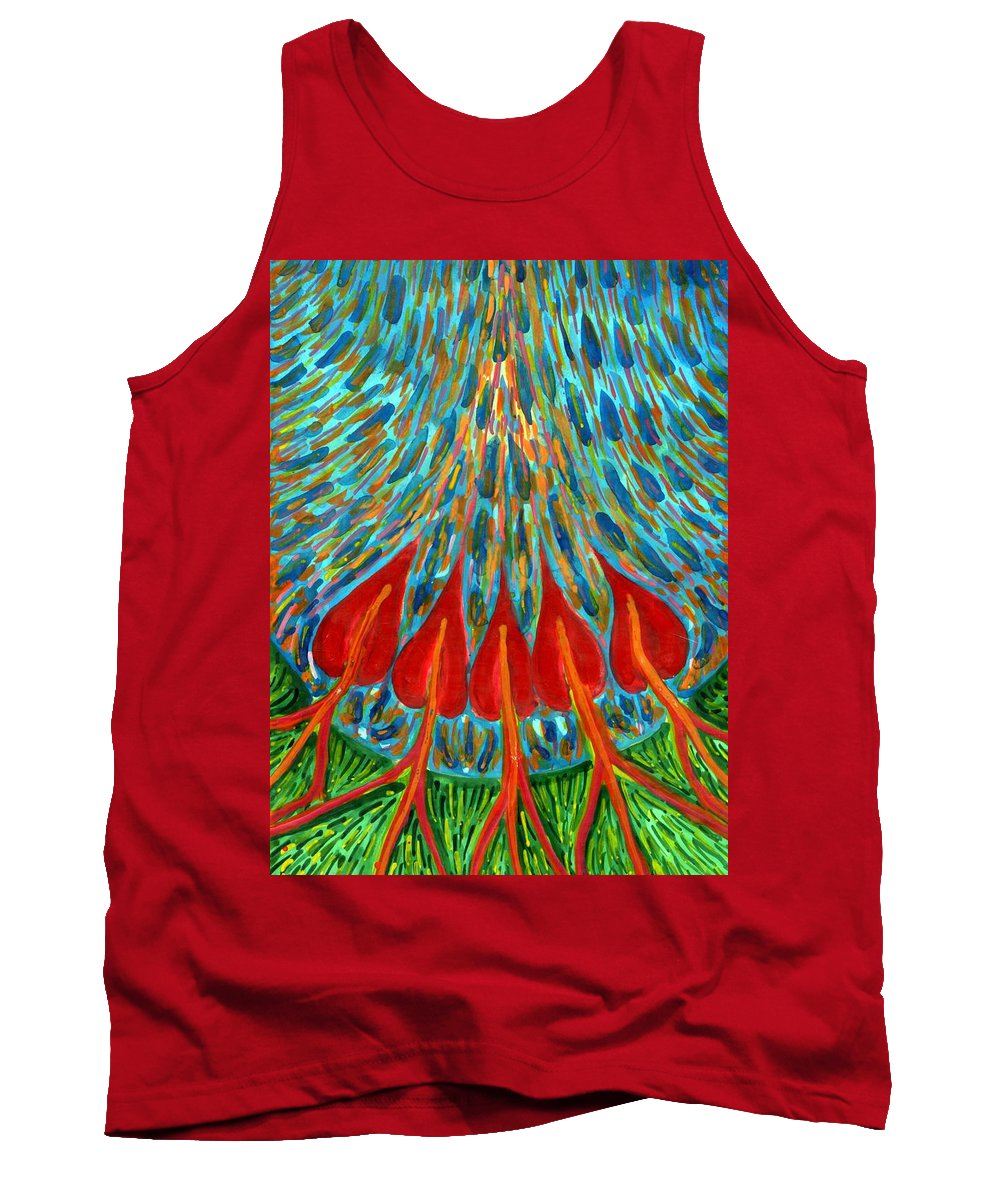 Colour Tank Top featuring the painting Penetration by Wojtek Kowalski