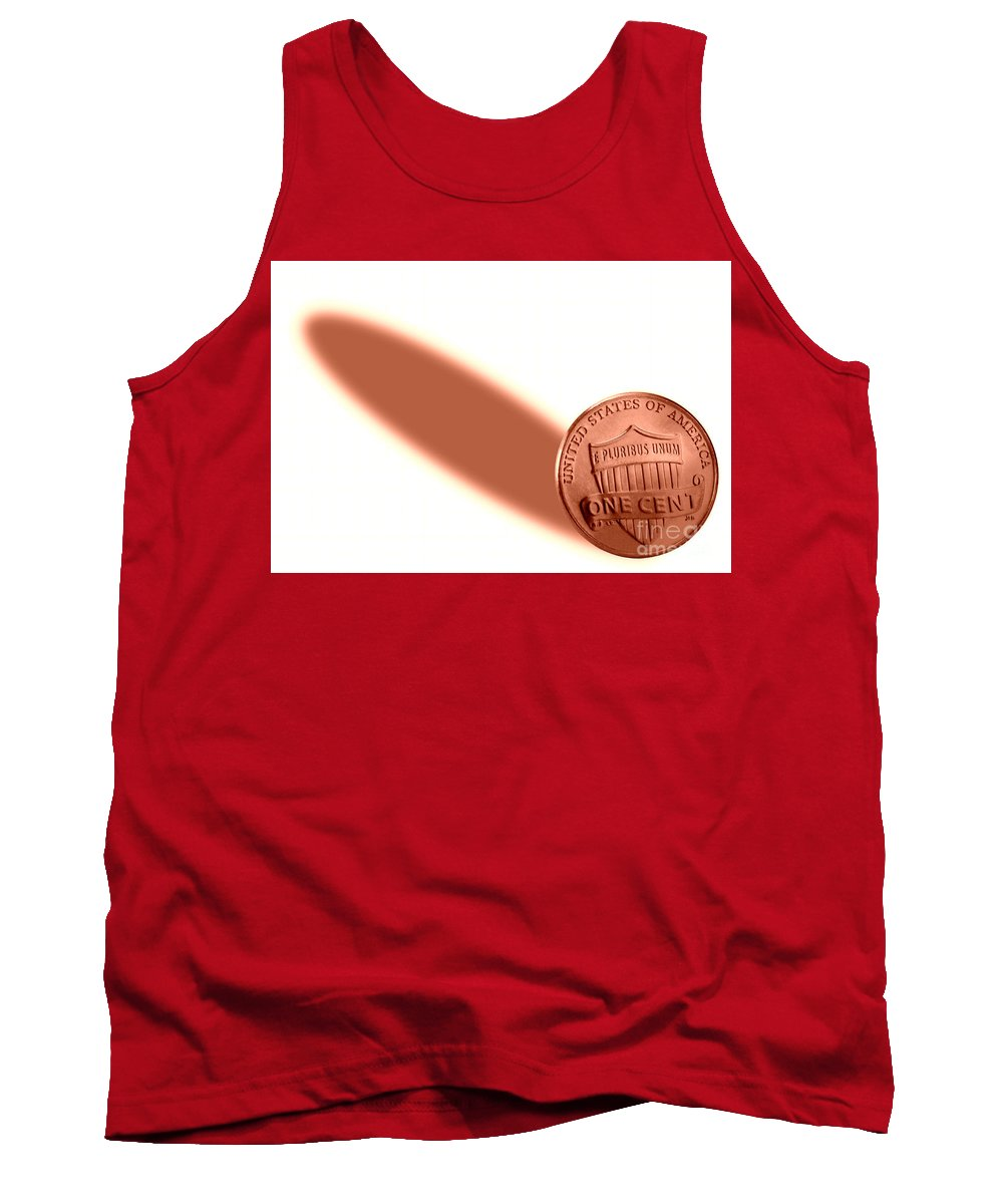 Money Tank Top featuring the photograph Penny Power. by W Scott McGill