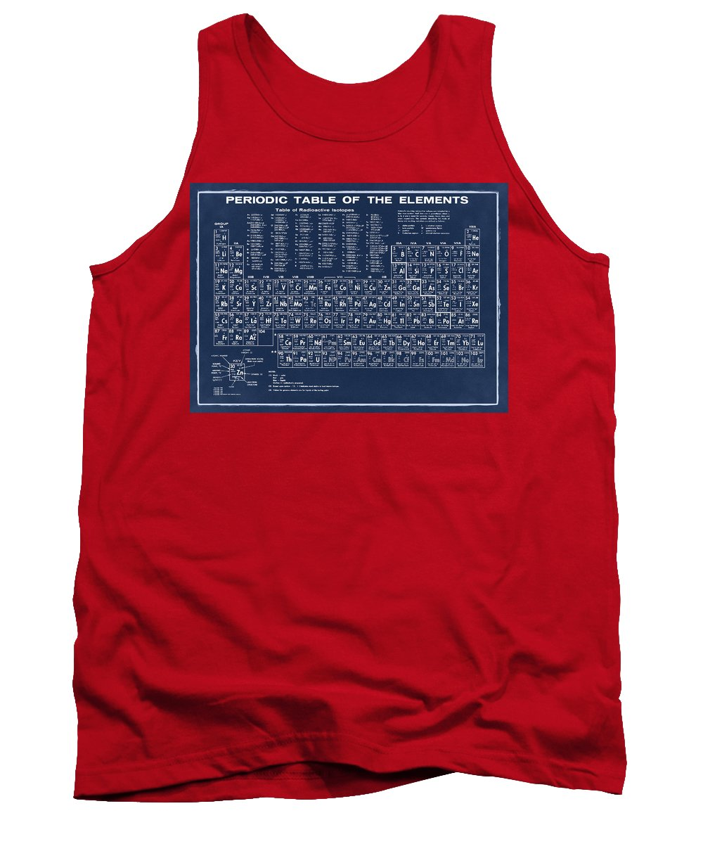 Periodic Tank Top featuring the photograph Periodic Table Of Elements In Blue by Bill Cannon