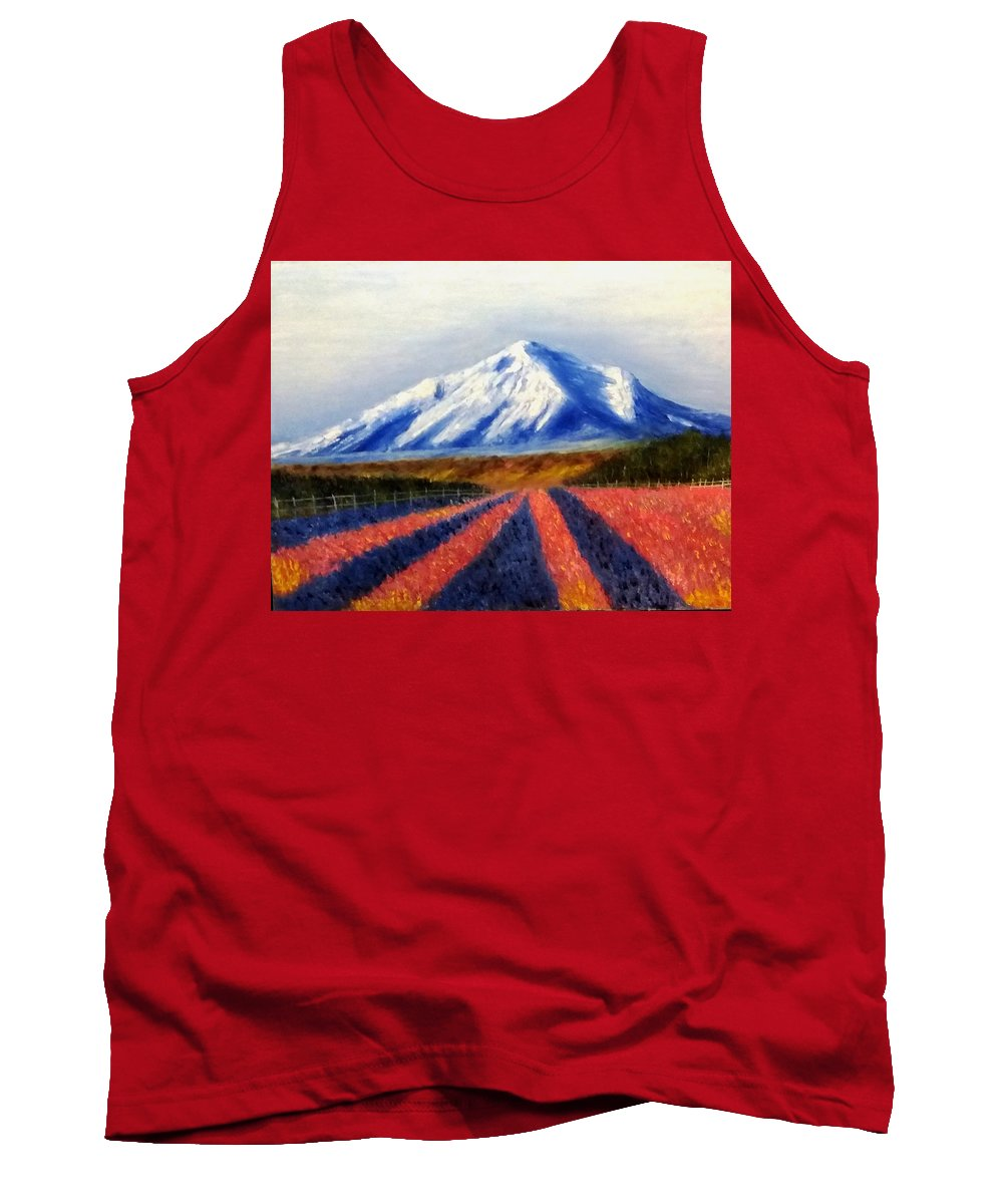 Perspective Tank Top featuring the painting Perspective by Nissan Rabin