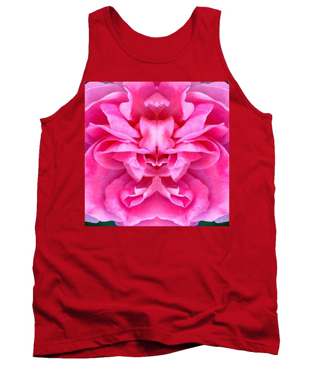 Pink Tank Top featuring the photograph Petal Fantasy by Marianne Dow