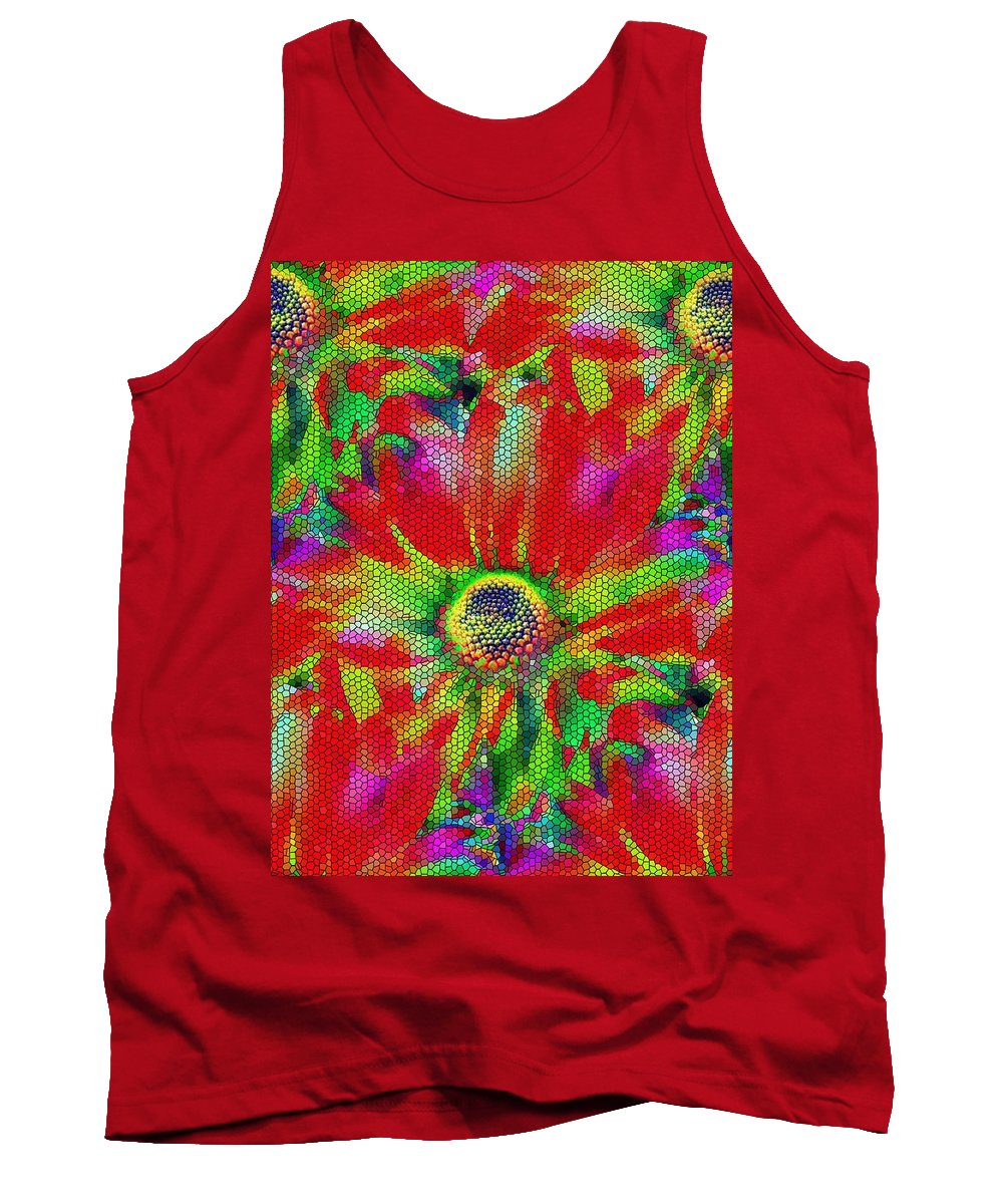 Abstract Tank Top featuring the photograph Petal Power by Tim Allen