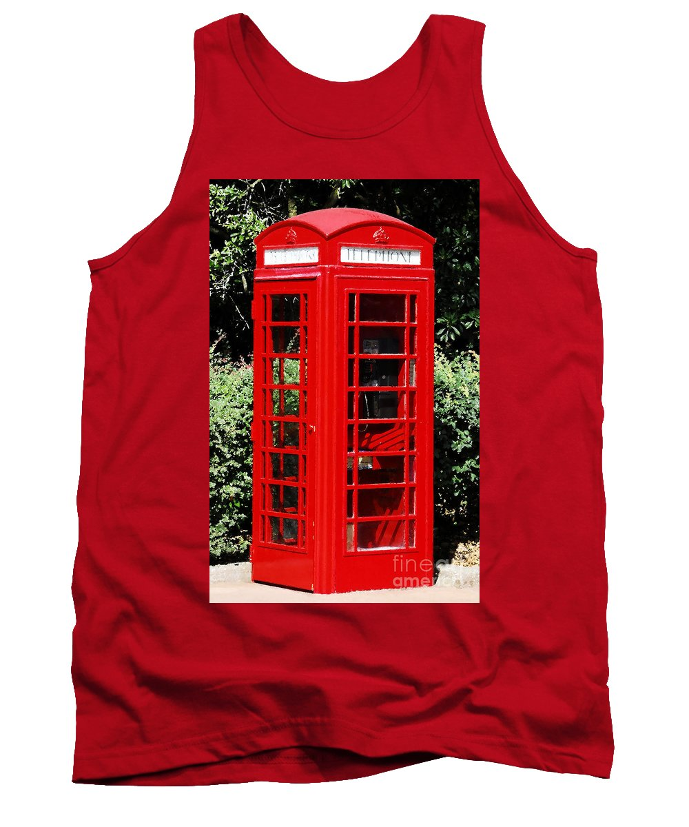 Phone Booth Tank Top featuring the photograph Phone Booth by David Lee Thompson