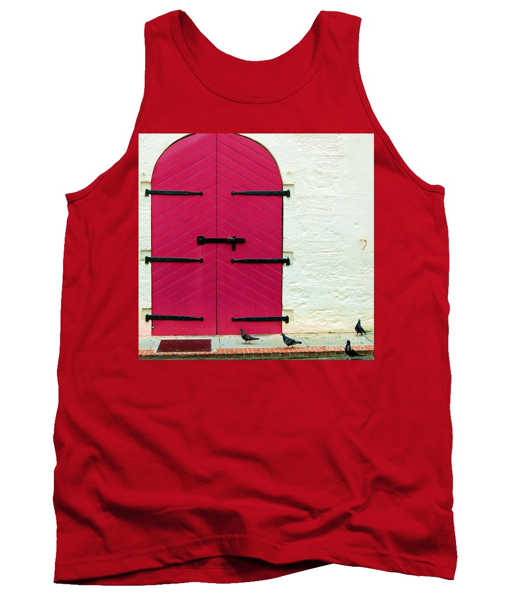 Birds Tank Top featuring the photograph Pigeon Pink by Debbi Granruth