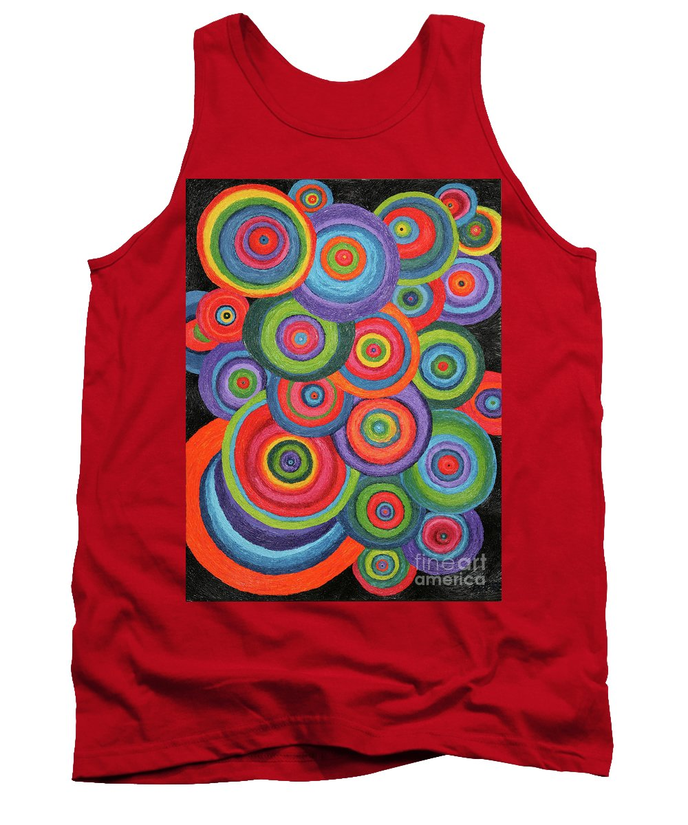 Color Tank Top featuring the painting Pinball by Barbara Nolan