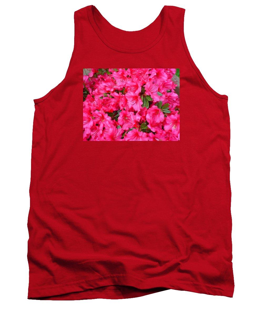 Floral - Azaleas Tank Top featuring the photograph Pink Azaleas by Val Conrad