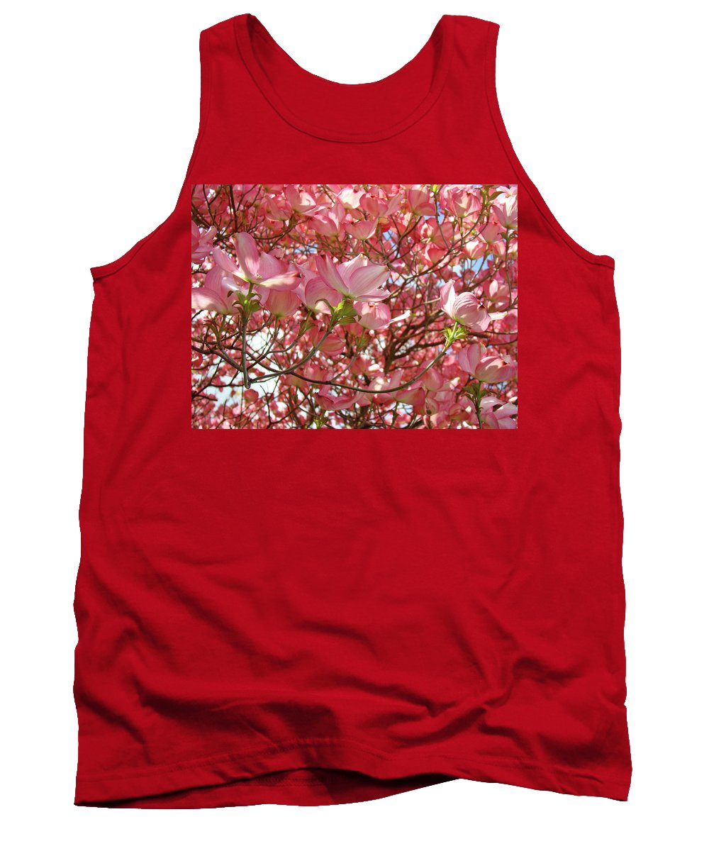 Dogwood Tank Top featuring the photograph Pink Dogwood Flowering Tree Art Prints Canvas Baslee Troutman by Baslee Troutman