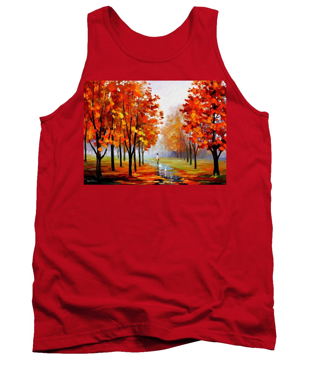 Afremov Tank Top featuring the painting Pink Fog by Leonid Afremov
