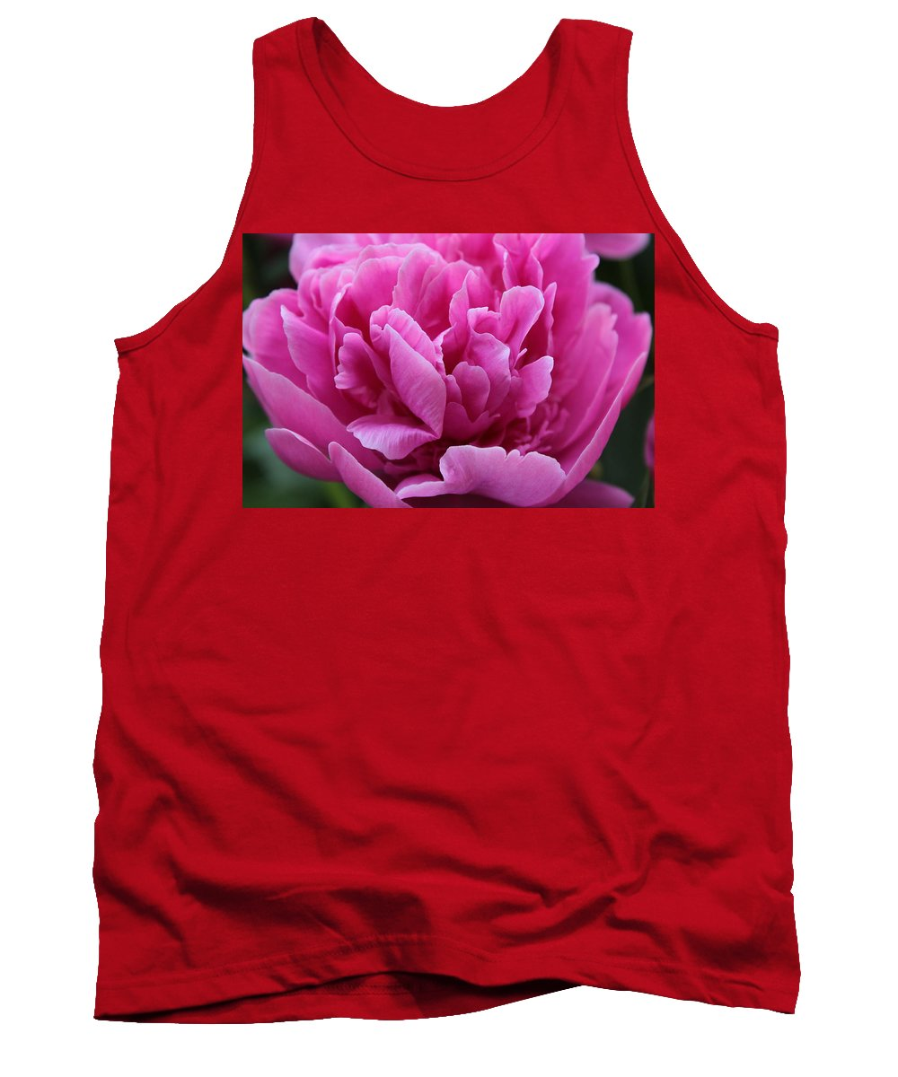 Pink Tank Top featuring the photograph Pink Peony by Carolyn Jacob