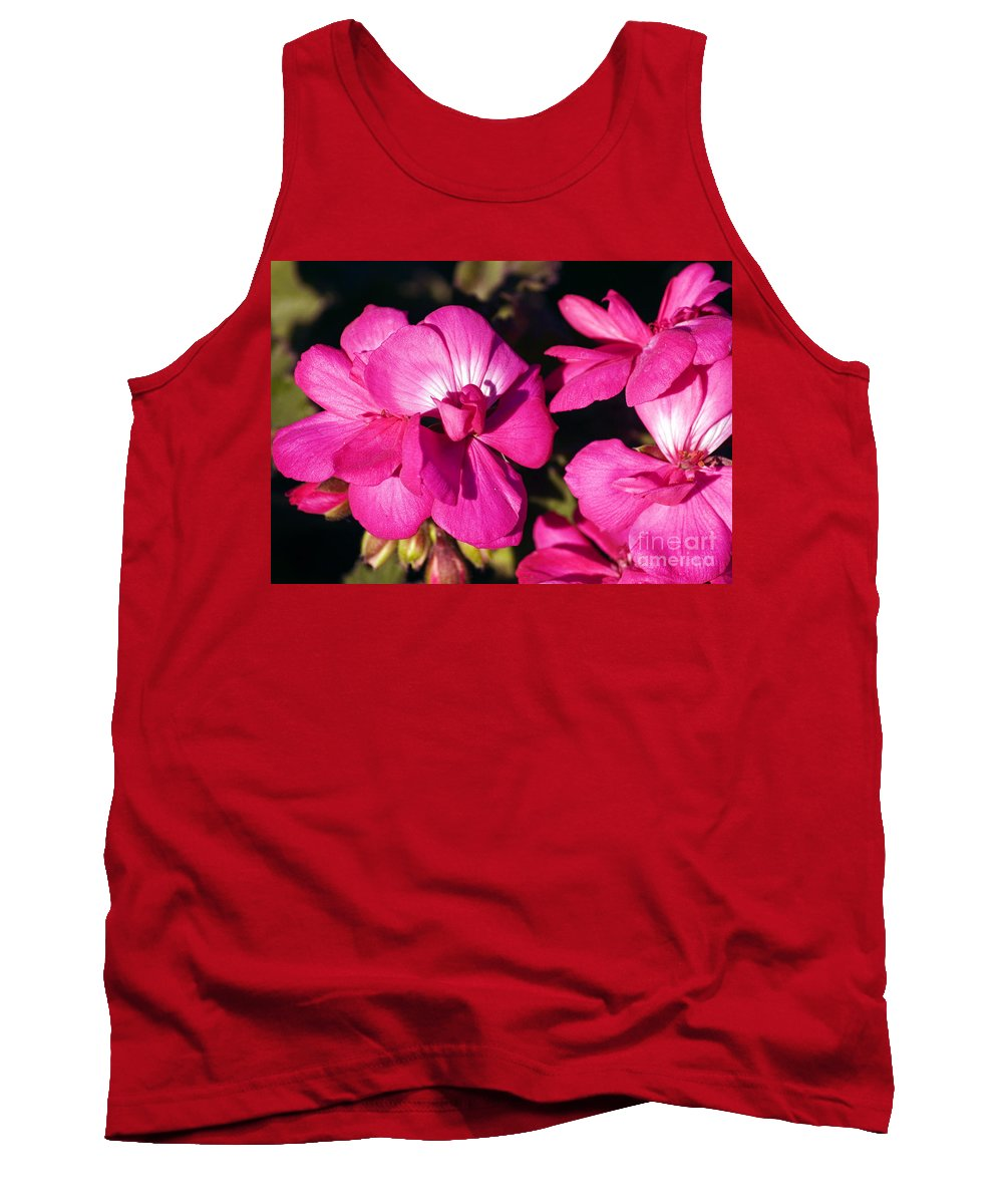 Clay Tank Top featuring the photograph Pink Spring Florals by Clayton Bruster