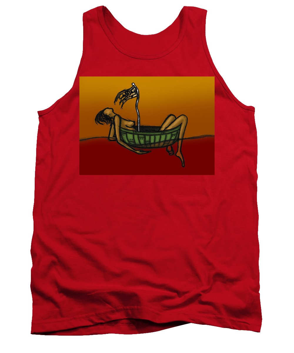 Pirate Tank Top featuring the digital art Pirate by Kelly Jade King