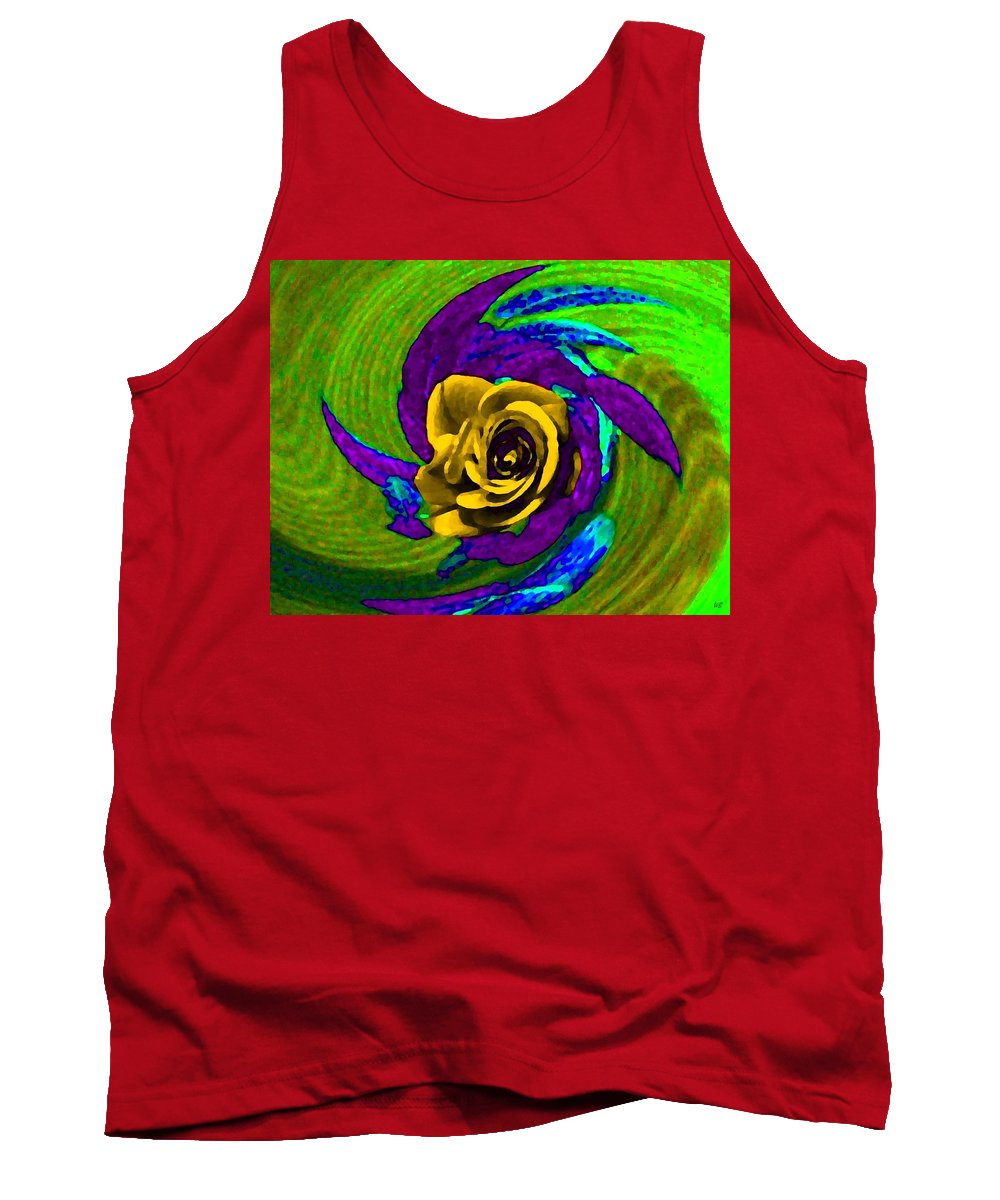 Abstract Tank Top featuring the digital art Pizzazz 4 by Will Borden