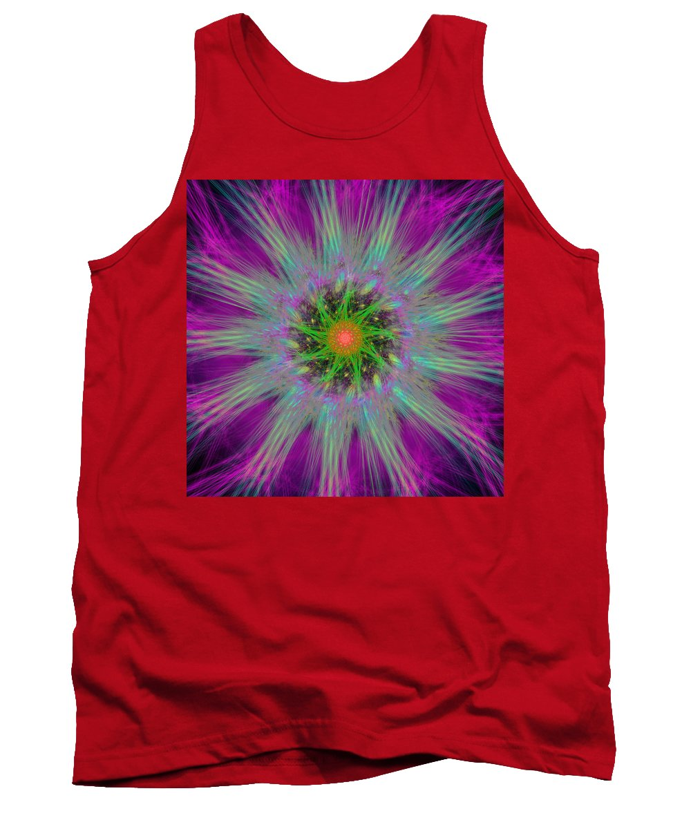 Abstract Tank Top featuring the digital art Placentime by Andrew Kotlinski
