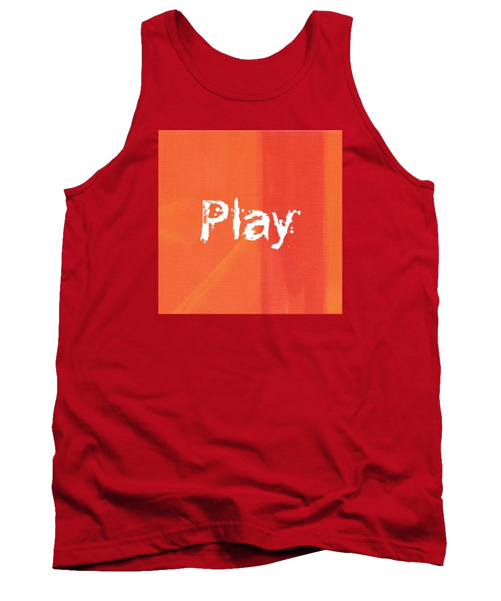 Love Tank Top featuring the mixed media Play by Kathleen Wong