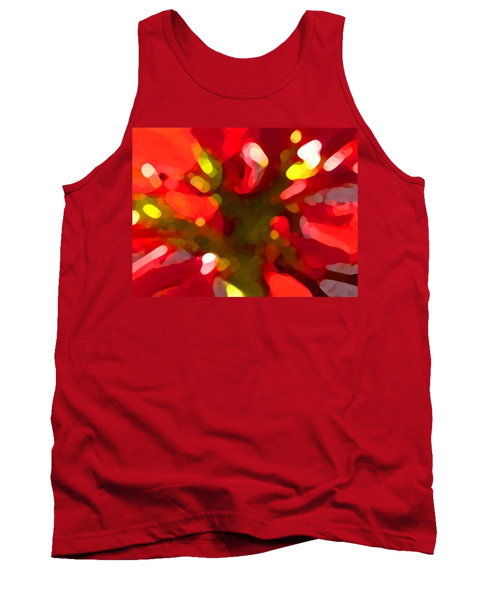 Abstract Painting Tank Top featuring the painting Poinsetta by Amy Vangsgard