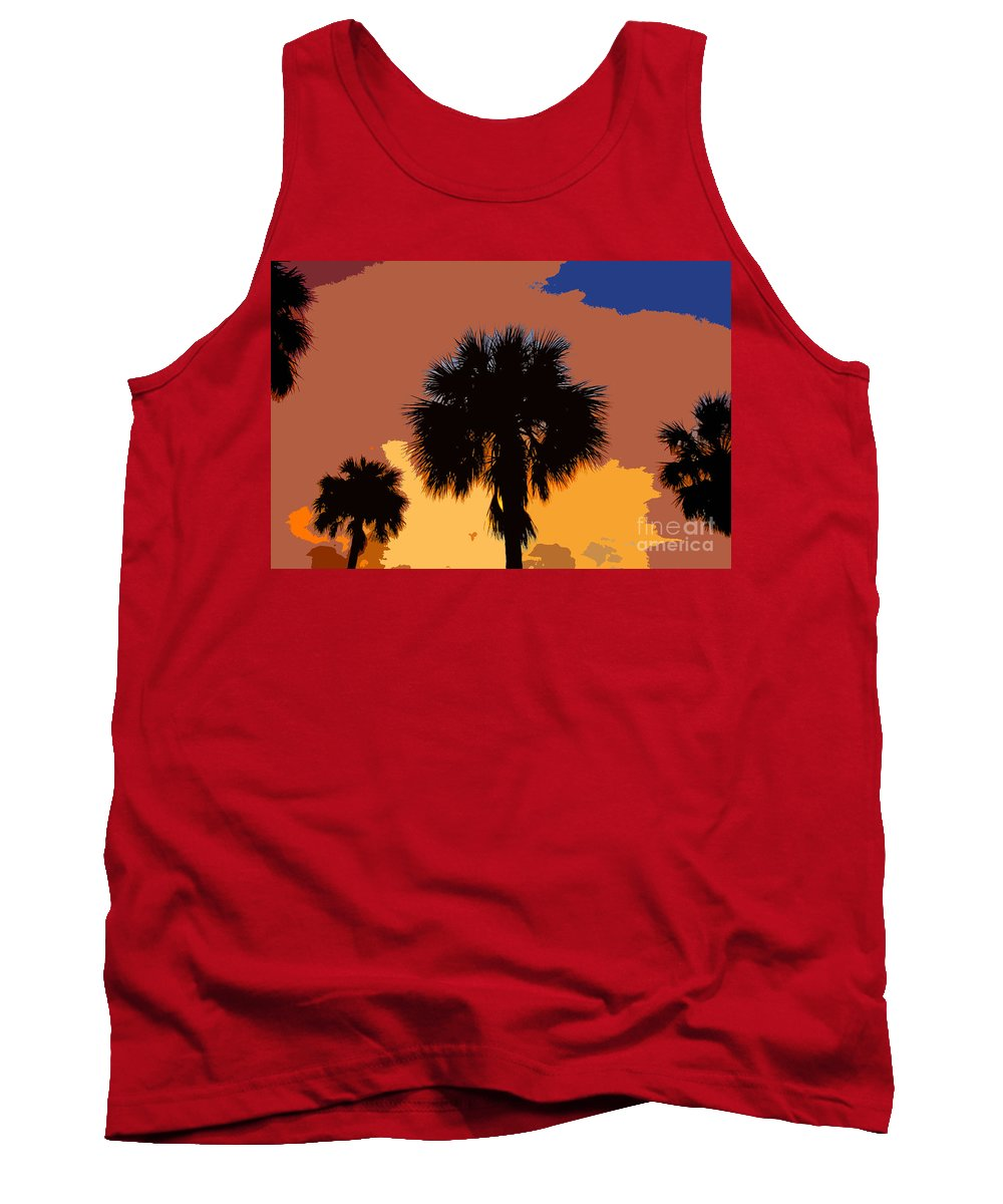 Palm Trees Tank Top featuring the photograph Pop Palms by David Lee Thompson