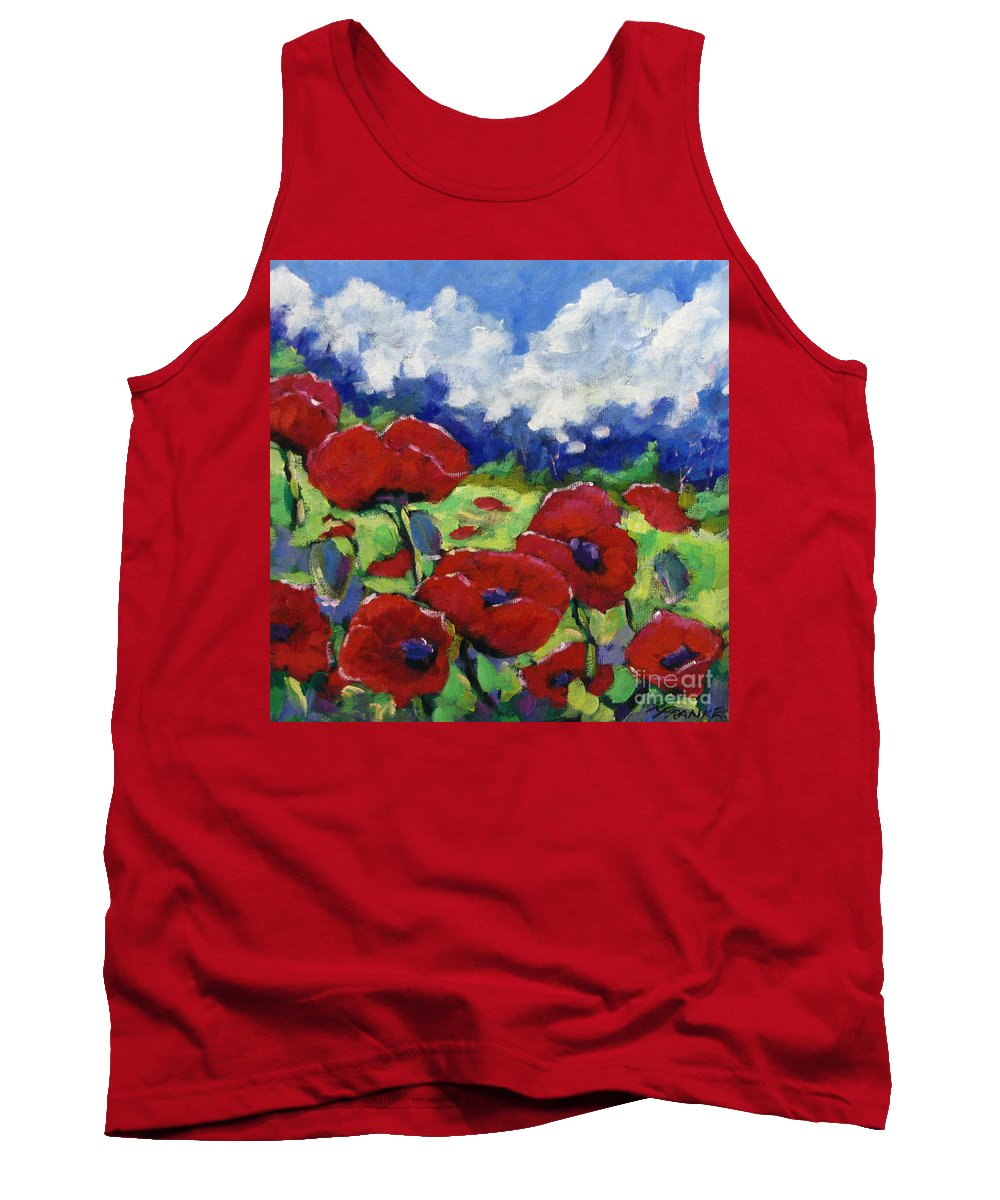 Art Tank Top featuring the painting Poppies 003 by Richard T Pranke