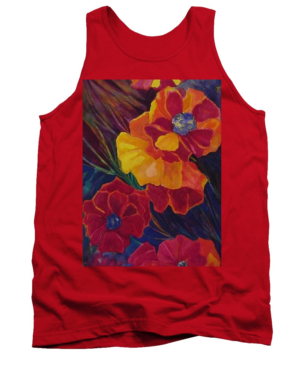 Flowers Tank Top featuring the painting Poppies by Carolyn LeGrand