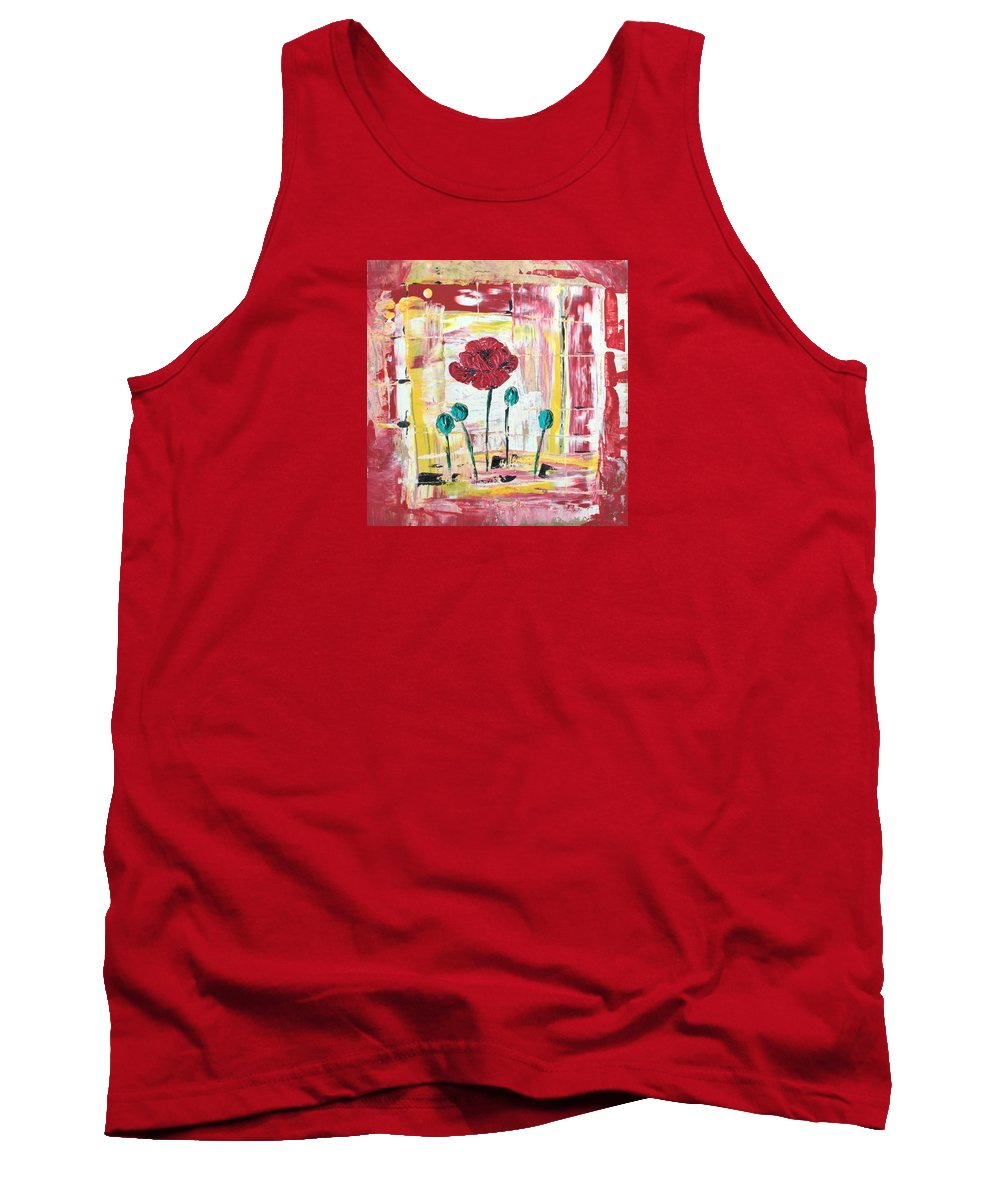 Abstract Tank Top featuring the painting Poppies In The Window by J R Seymour