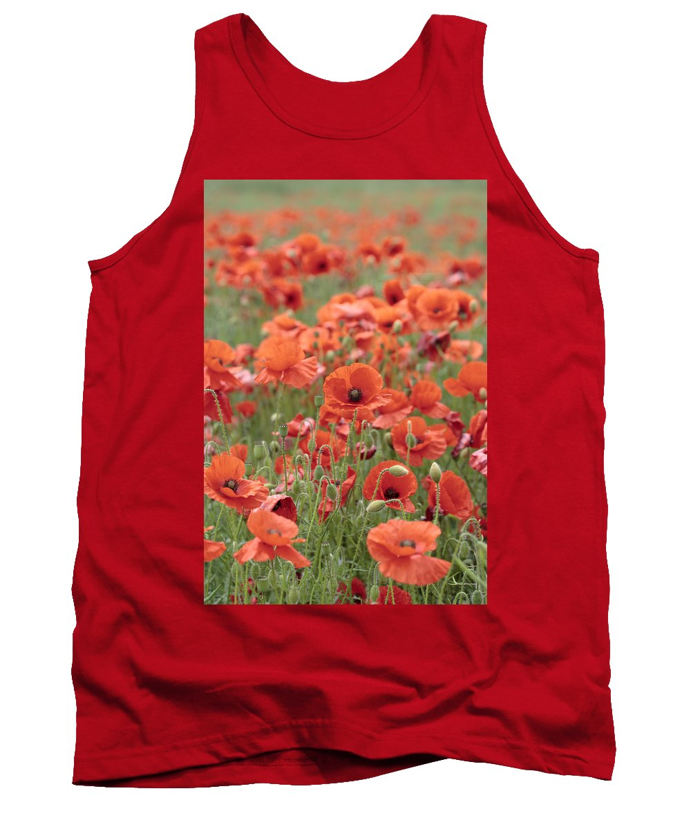 Poppy Tank Top featuring the photograph Poppies by Phil Crean