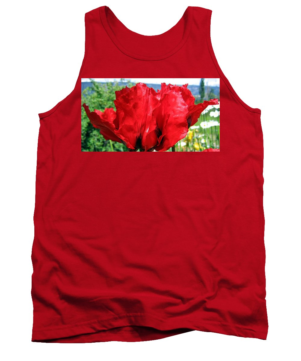 Poppies Tank Top featuring the photograph Poppies Plus by Will Borden