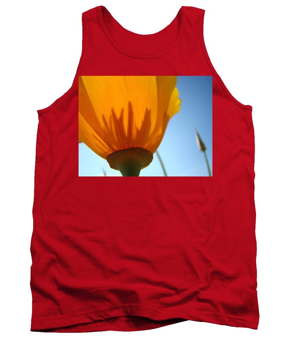 �poppies Artwork� Tank Top featuring the photograph Poppies Sunlit Poppy Flower 1 Wildflower Art Prints by Baslee Troutman