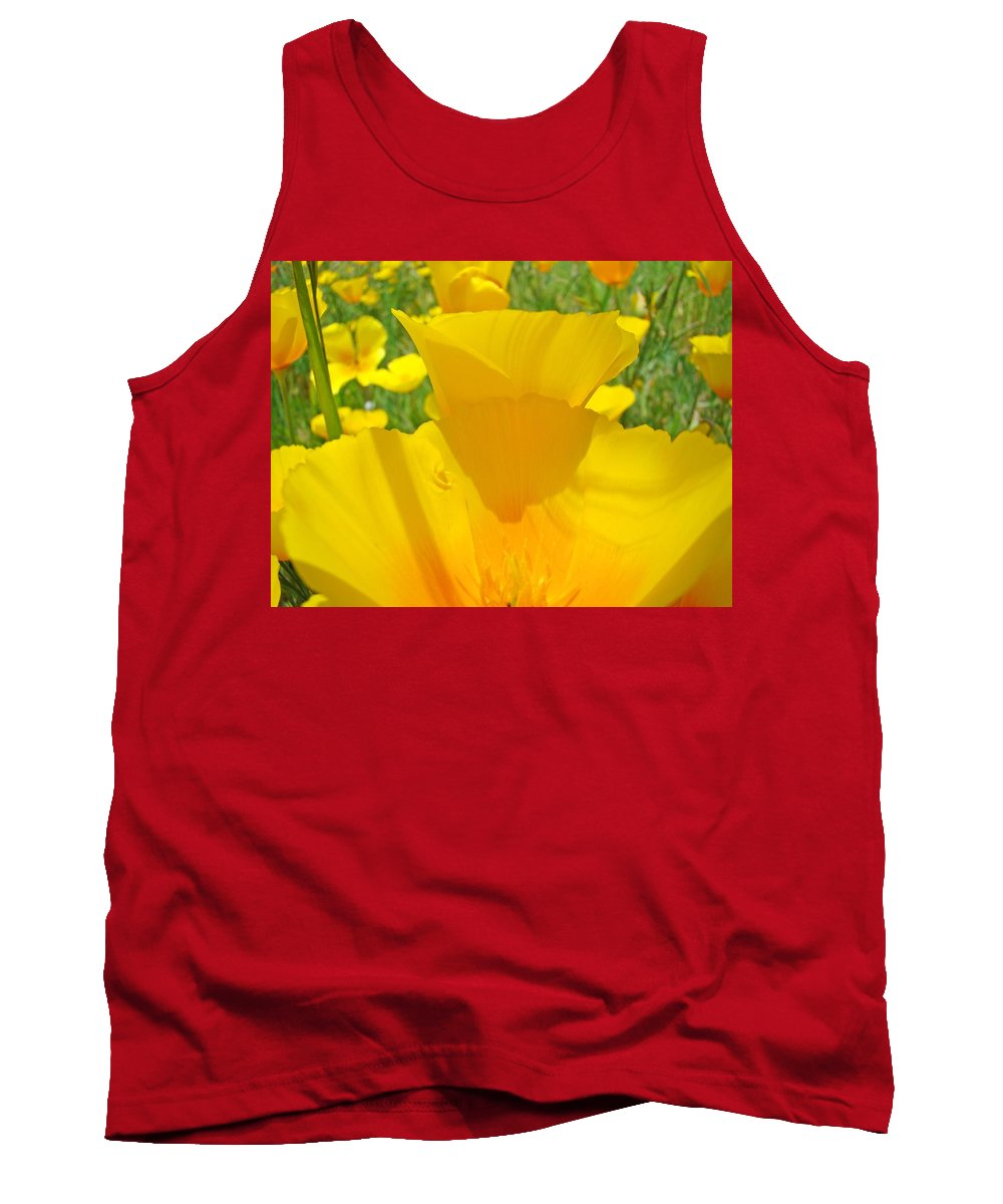 Poppy Tank Top featuring the photograph Poppy Flowers Art Prints Orange Poppies Baslee Troutman by Baslee Troutman