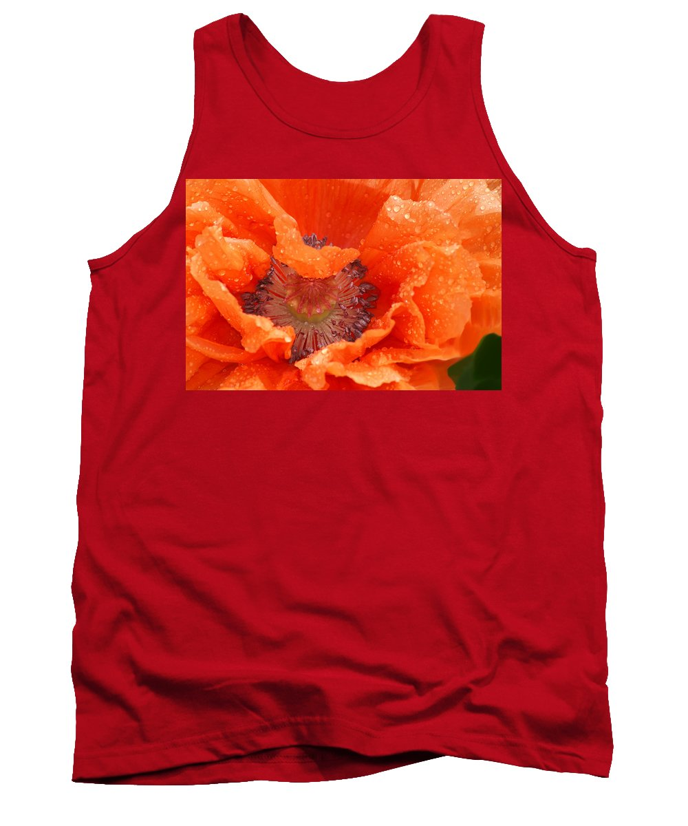 Orange Tank Top featuring the photograph Poppy by Heather Coen