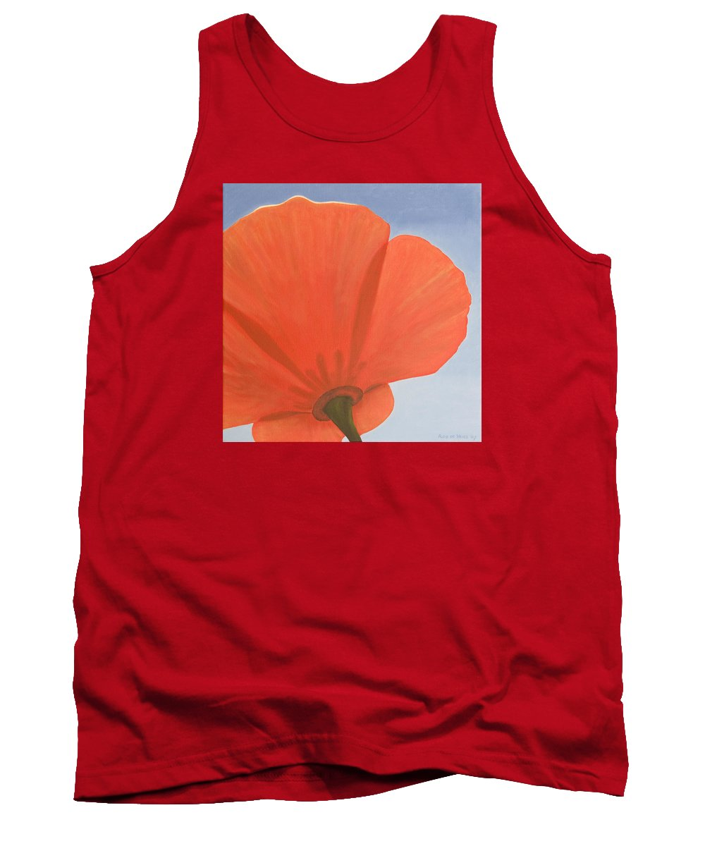 Flower Tank Top featuring the painting Poppy by Rob De Vries