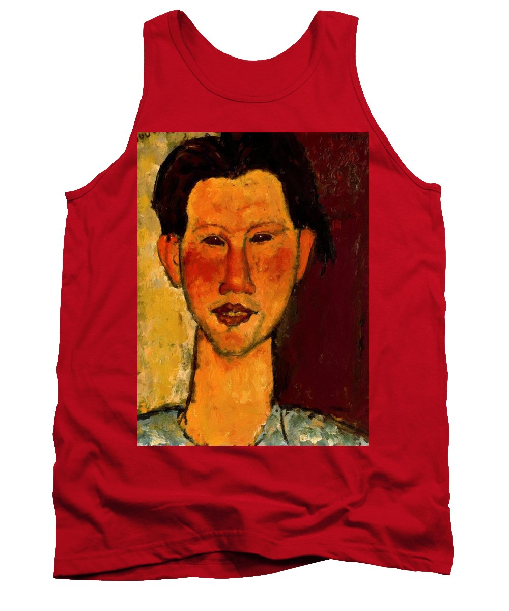 Portrait Tank Top featuring the painting Portrait Of Chaim Soutine 1915 by Modigliani Amedeo