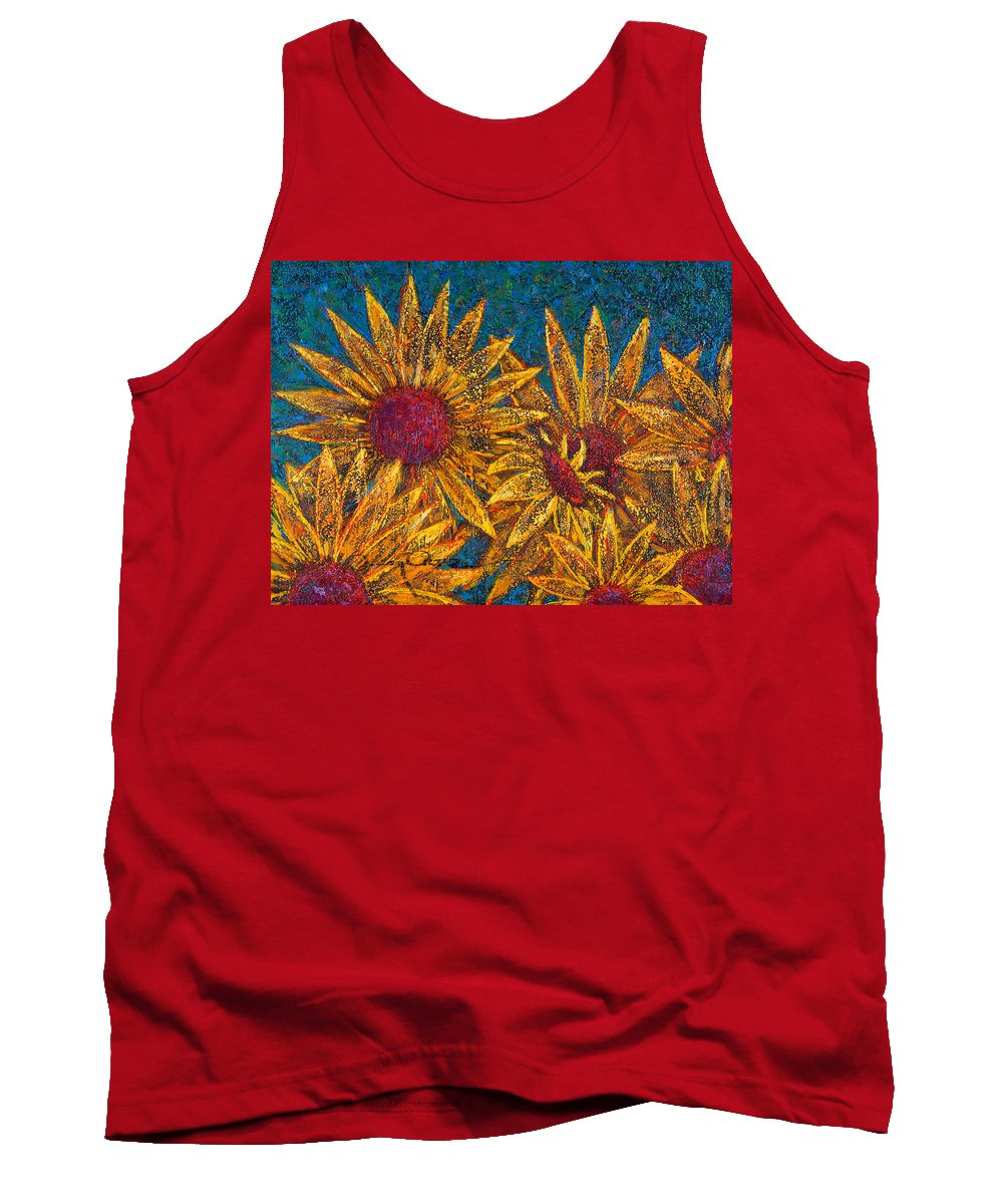 Flowers Tank Top featuring the painting Positivity by Oscar Ortiz