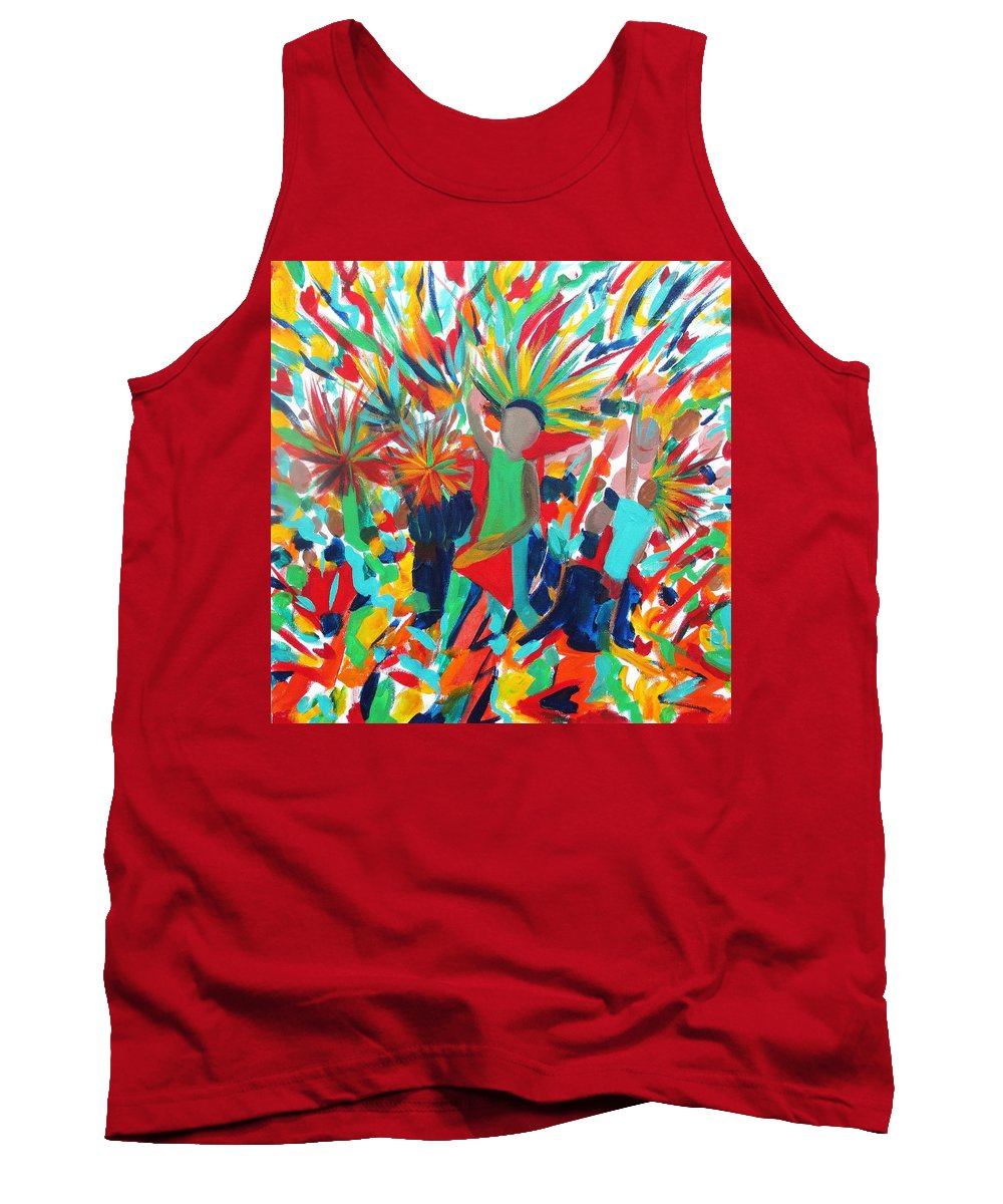 Music Tank Top featuring the painting Power Of Music 2 by Kelly Simpson