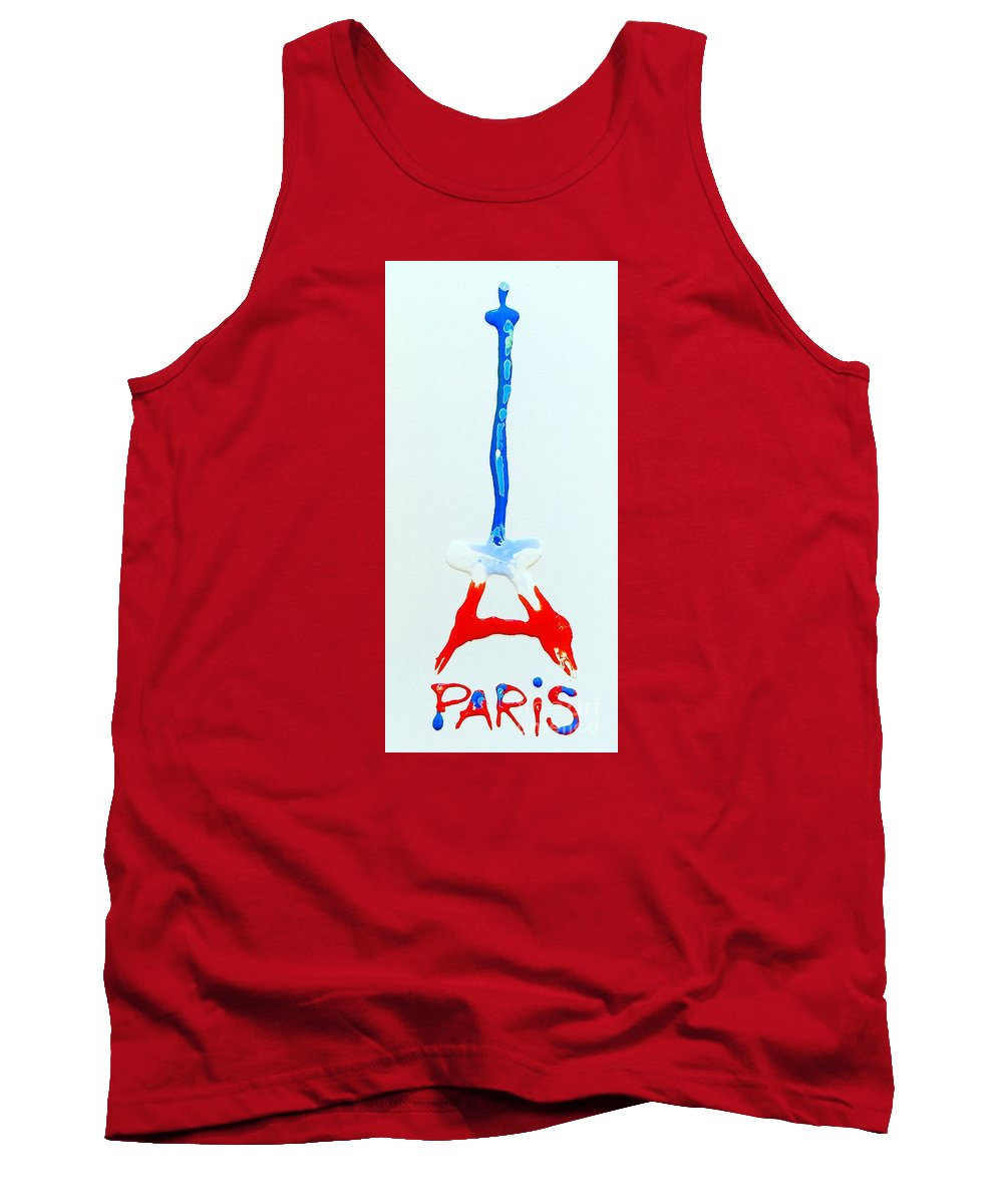 Paris Tank Top featuring the painting For Paris by Kasha Ritter