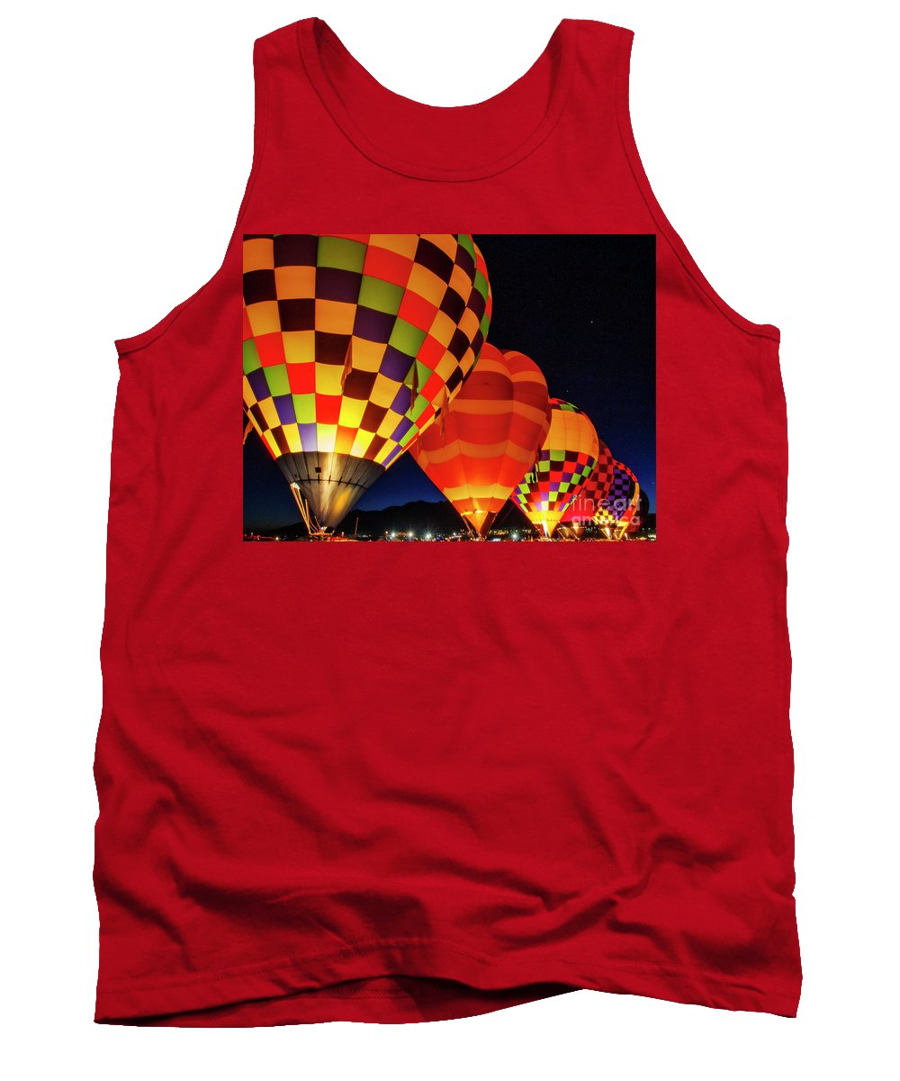 Balloons Tank Top featuring the photograph Prepare For Flight by Scott Kemper
