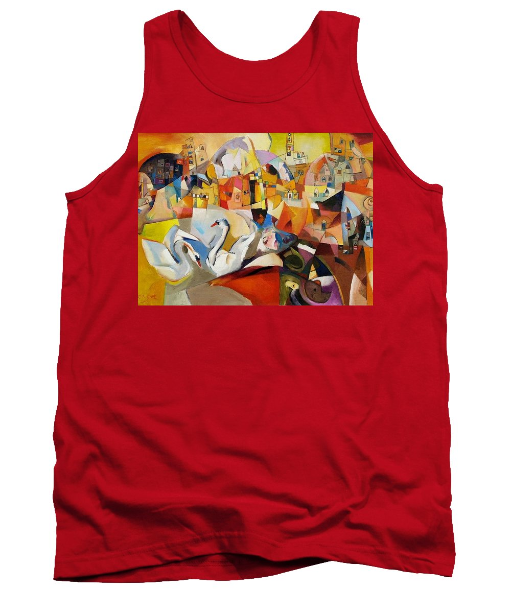 Landscape Tank Top featuring the painting Primavera by Miljenko Bengez