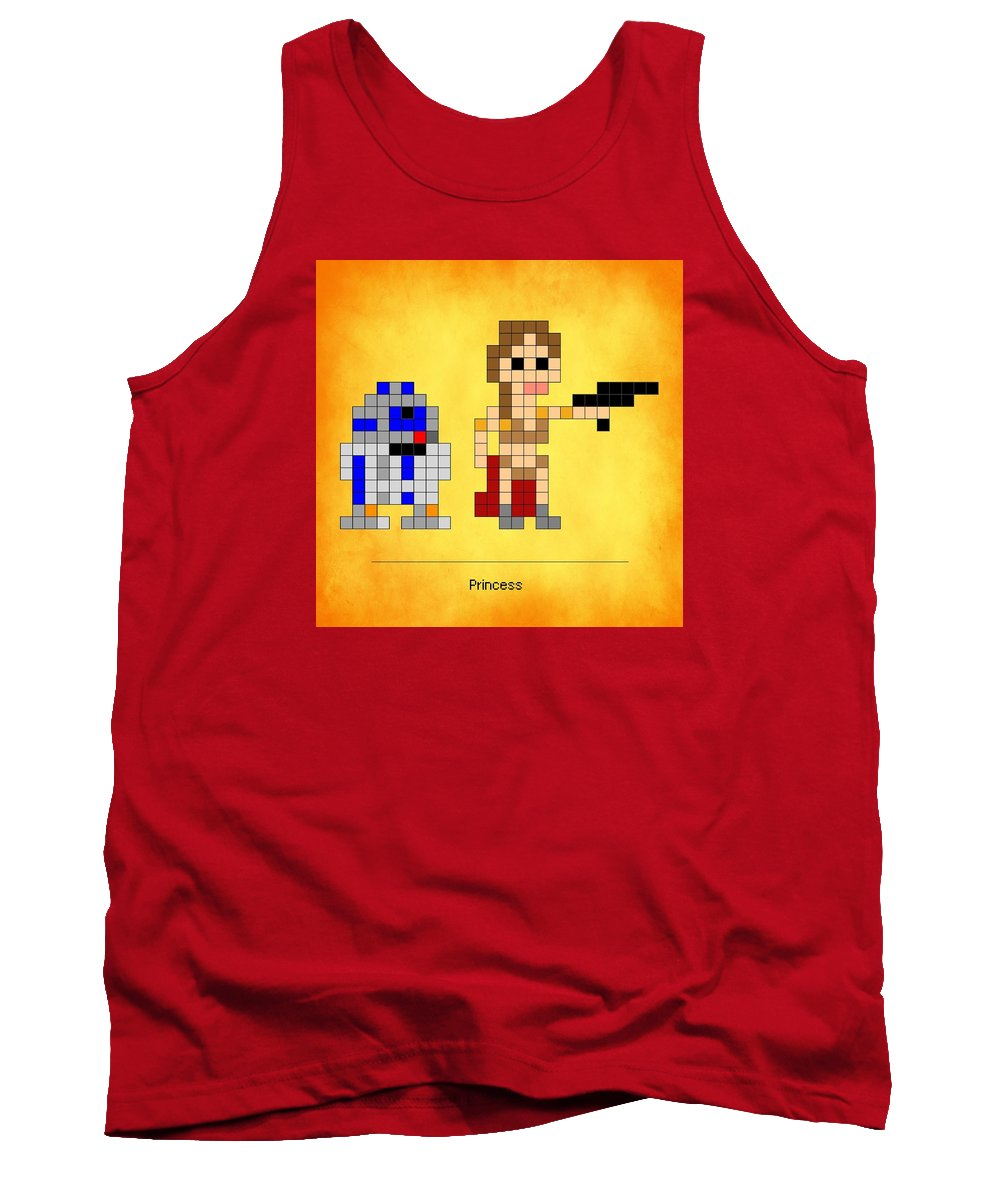 Star Wars Tank Top featuring the photograph Princess by Anthony Evans
