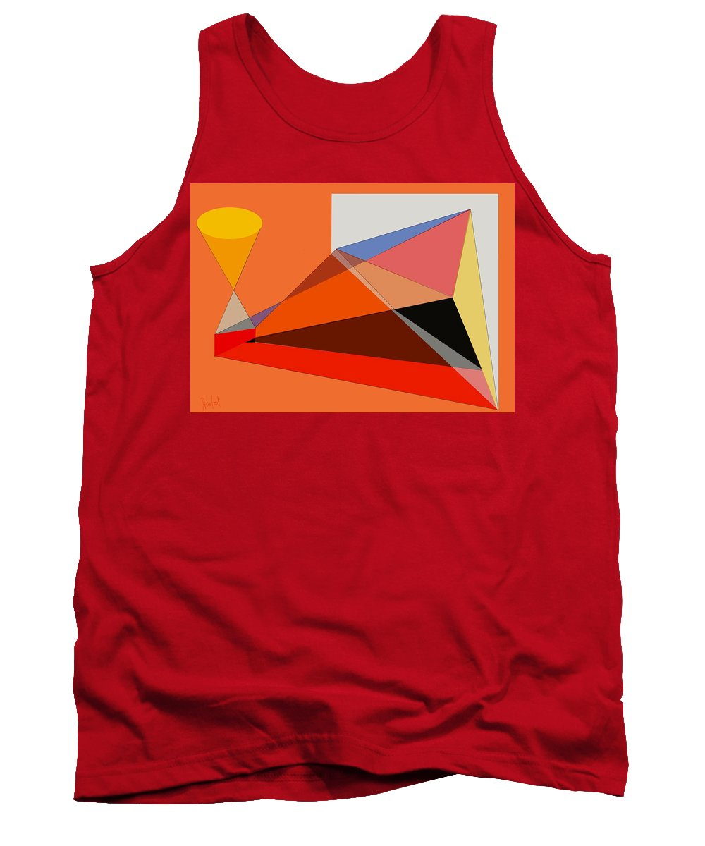 Projection Tank Top featuring the digital art Projection by Helmut Rottler