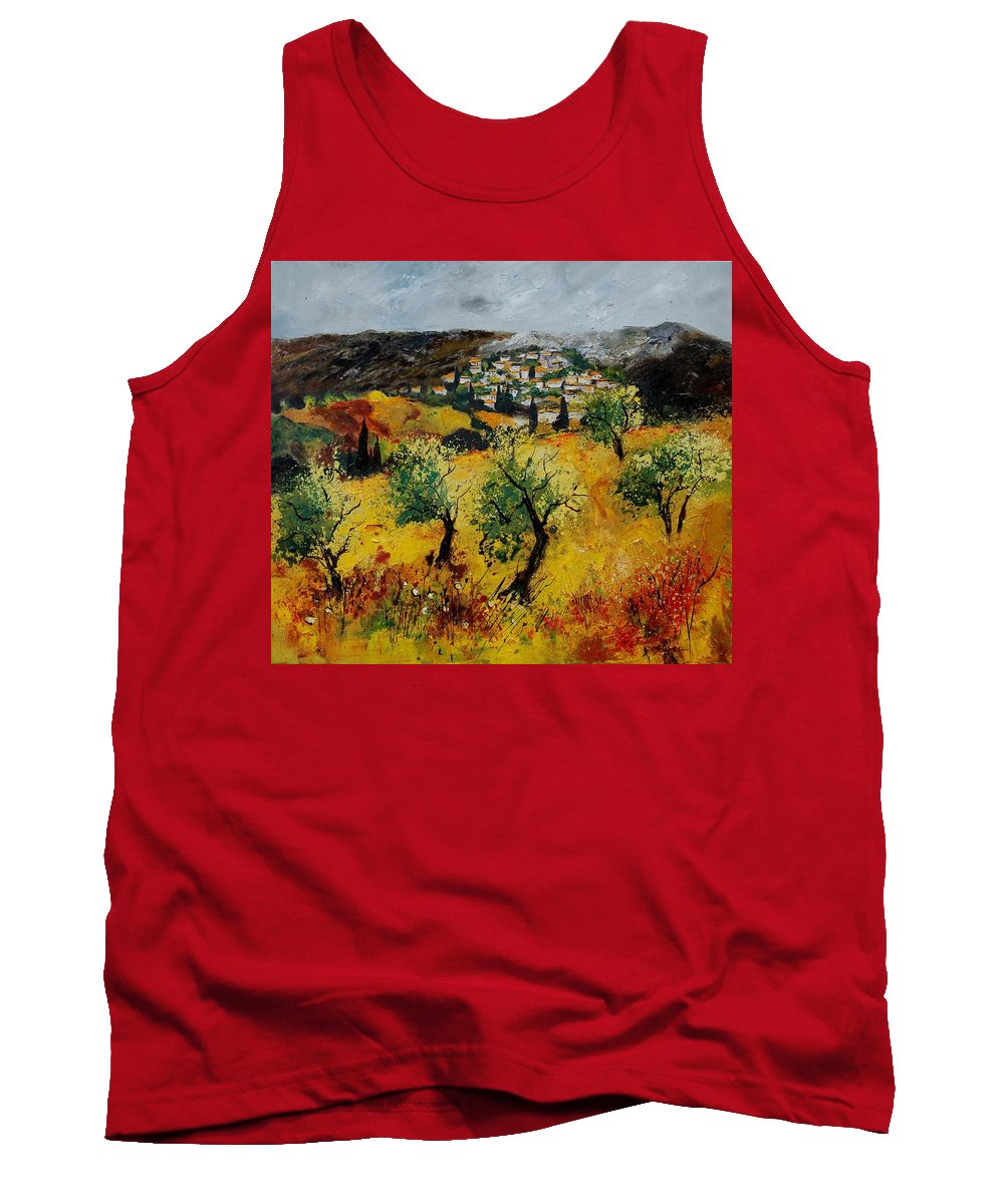 Provence Tank Top featuring the painting Provence 789080 by Pol Ledent