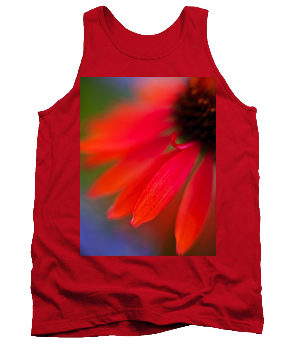 Echinacea Tank Top featuring the photograph Psychedlia by Mike Reid