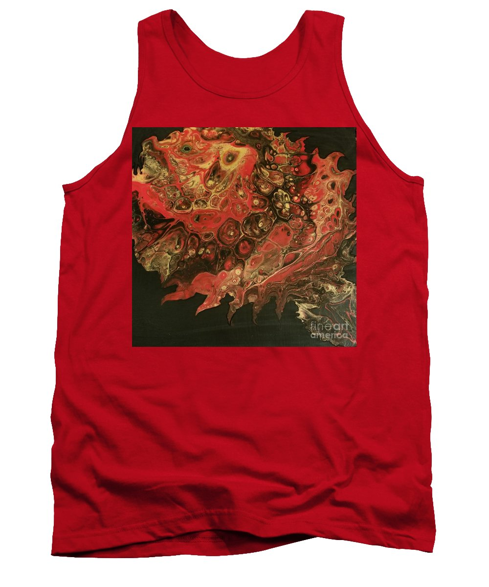 Sea Creature Tank Top featuring the painting Puffy by Karin Fletcher