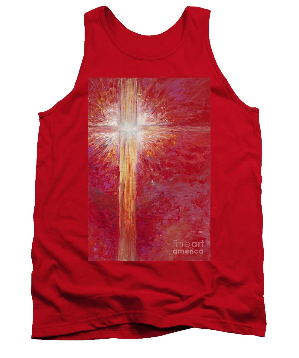 Light Tank Top featuring the painting Pure Light by Nadine Rippelmeyer