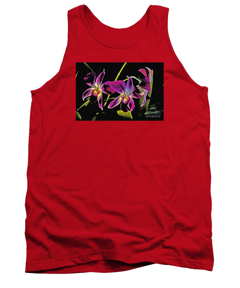 Purple Tank Top featuring the photograph Purple Orchids by David Frederick