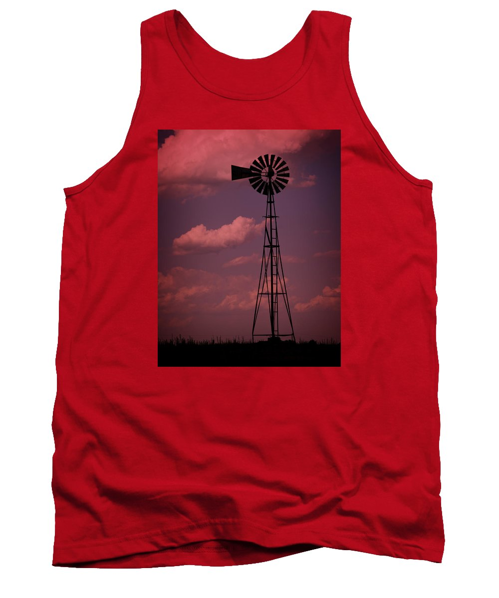 Wind Tank Top featuring the photograph Purple Wind by Ricky Barnard