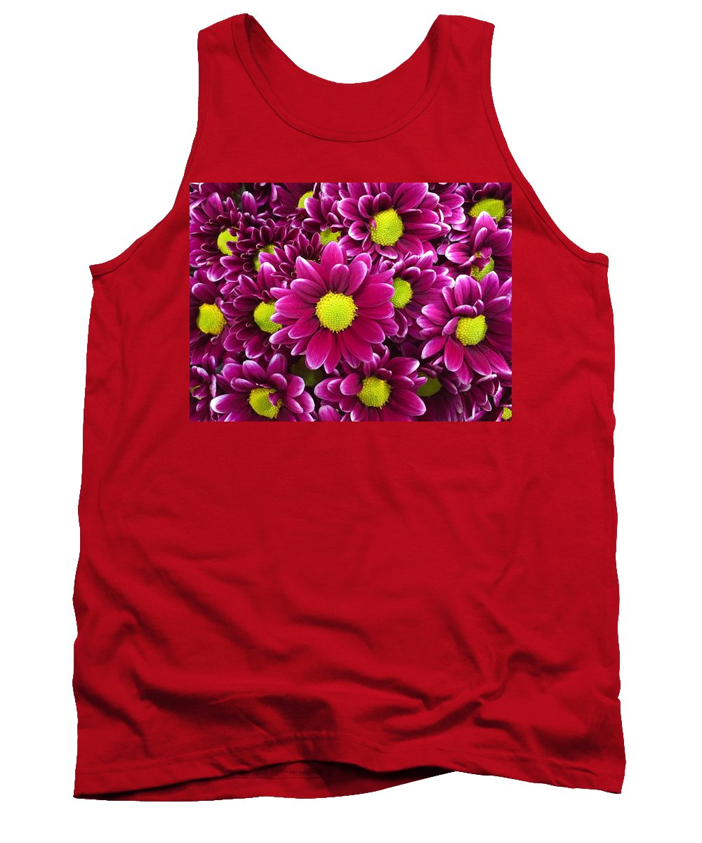 Flowers Tank Top featuring the photograph Purple Yellow Flowers by Lawrence S Richardson Jr